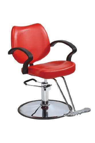Red classic hydraulic barber chair styling salon beauty for Hydraulic chairs beauty salon