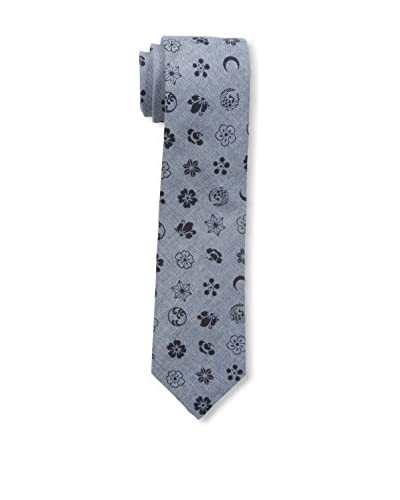Gitman Blue Men's Floral Tie, Grey/Navy