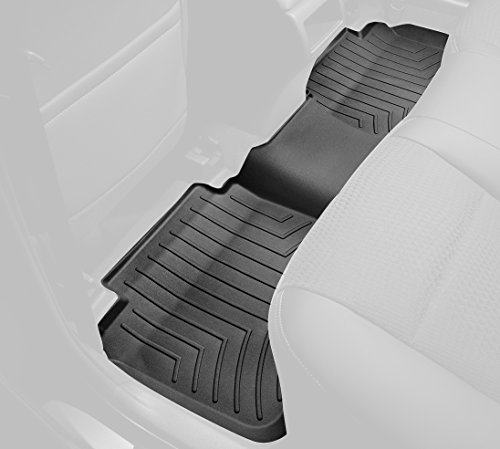 WeatherTech Custom Fit Rear FloorLiner for Ford Flex (Black) (2013 Ford Flex Weathertech compare prices)