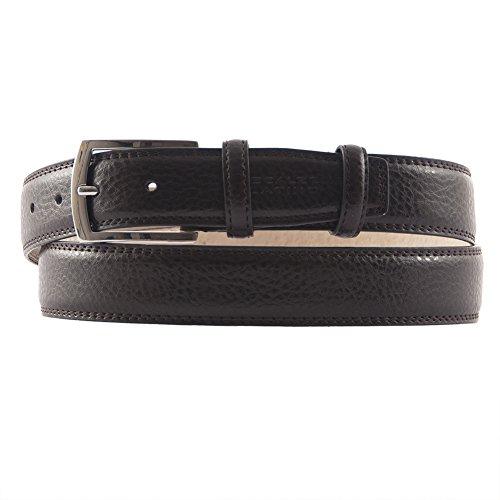 Cintura classica Titano, in vera pelle stampata cocco colore marrone, dimensioni in cm: 125 L x 3,5 h