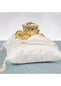Enchanted Ring Bearer Coach Pillow Style DB26RP/WHITE, Ivory
