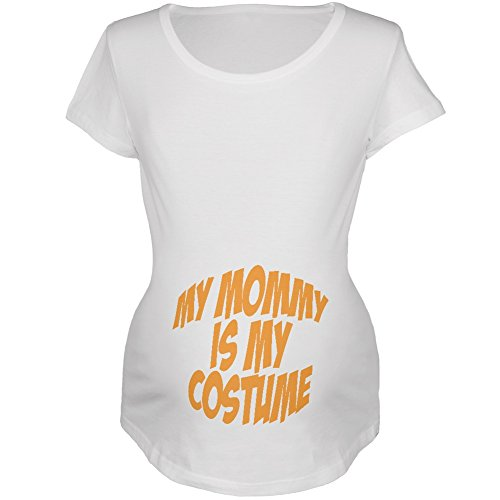 Halloween Mommy Baby Costume White Maternity Soft T-Shirt