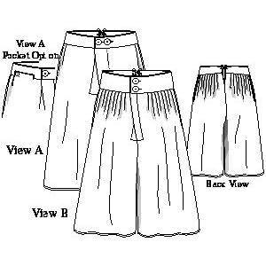 man pattern  1750 1820  multisized  waist sizes