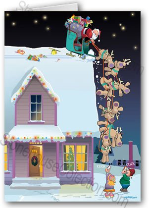 Funny Smartphone Christmas Card 12 cards/ 13