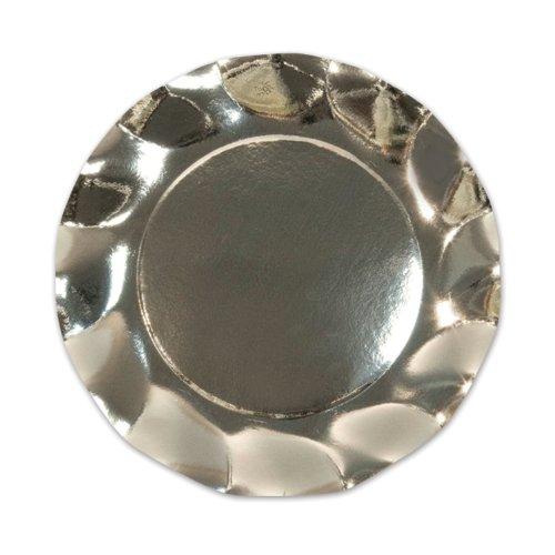 Metallic Silver Large Plates (10/Pkg)