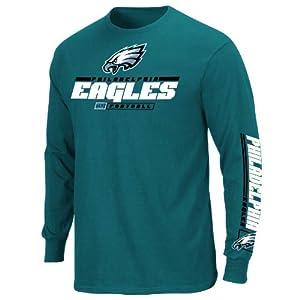 Philadelphia Eagles Mens Long Sleeve Majestic Tee Shirt by VF