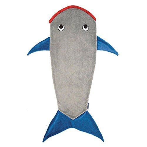 V.POINT Kids Mermaid Blanket, Christmas Holiday Gift Winter Warm Soft for Kids/Children, Shark Design Mermaid(142 x70cm)-Shark