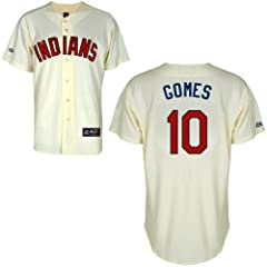 Yan Gomes Cleveland Indians Alternate Ivory Replica Jersey by Majestic by Majestic