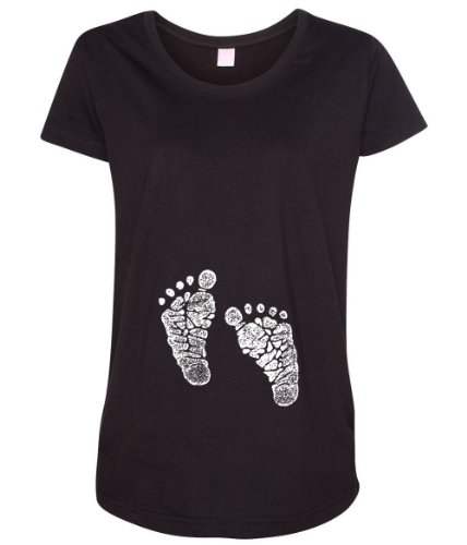 Cute Baby Feet Women's Maternity T-Shirt