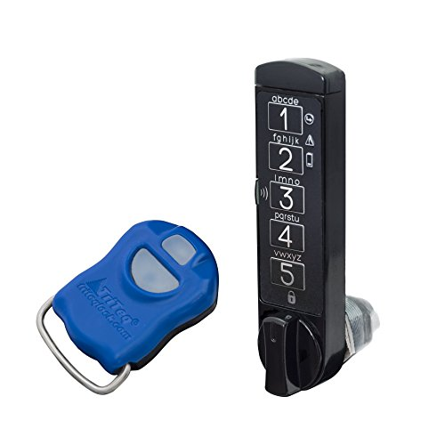 MicroIQ vertical electronic cam lock with Control keyfob (Black) (Coin Operated Door Lock compare prices)