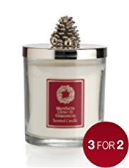Mandarin, Cinnamon & Clove Lidded Large Filled Candle