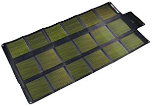 Brunton SOLARIS 52 CIGS Foldable Solar Panel (Black/Silver, 12 Volt)