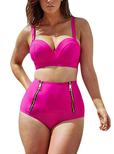 sunifsnow-bikini-pareo-a-fleurs-sans-manche-fille-rose-rose-fluo