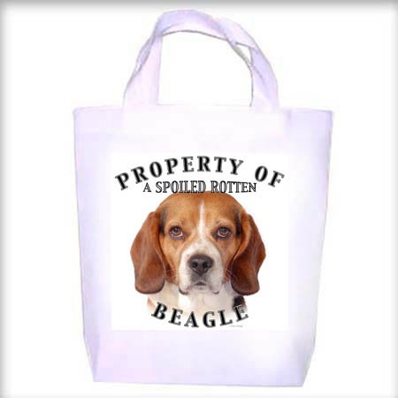 Beagle Property Shopping - Dog Toy - Tote Bag