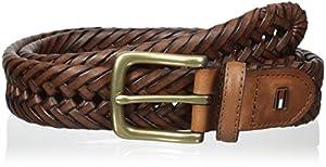 Cinturón Trenzado Tommy Hilfiger Men's talla 38, color Saddle
