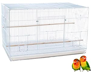 Mcage Lot of Breeding Bird Flight Cages for Canary Parakeet Aviaries Budgies Lovebird Finch (Large 30 White) (Color: Large 30 White)