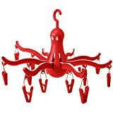 Ikea 801.896.63 Pressa Hanging Dryer with 16 Clothes Clips, Red