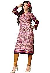 JCM Krishriyaa Women's Pink Cotton Kurti With XL Size