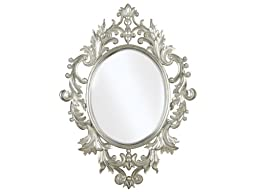 Kenroy Home Louis Wall Mirror with Silver Leaf Finish, 28 by 38-Inch