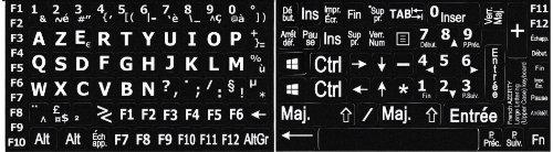 Autocollants Lisibilité Clavier PC Grosses Touches