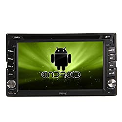 See Pupug New Sale Android 4.2 Double Din 6.2 inch Capacitive HD Multi-touch Screen Car DVD Player Stereo In Dash GPS Navi Navigation Support 3G/Wifi/OBD2/Bluetooth/DVR/1080P/Air Play/SD/USB/AM/FM Radio/7 Color Panel Lights Details