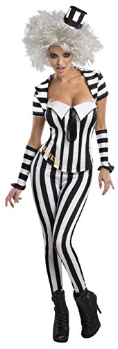 Secret Wishes Women's Beetlejuice Corset Style Costume, Multi,