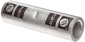 Morris Products 93236 Long Barrel Compression Splice, Aluminum, Black Color Code, 600mcm Wire Range