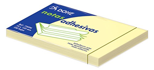 Dohe 75006 - Pack de 100 blocs de notas adhesivas, 75 x 75 mm
