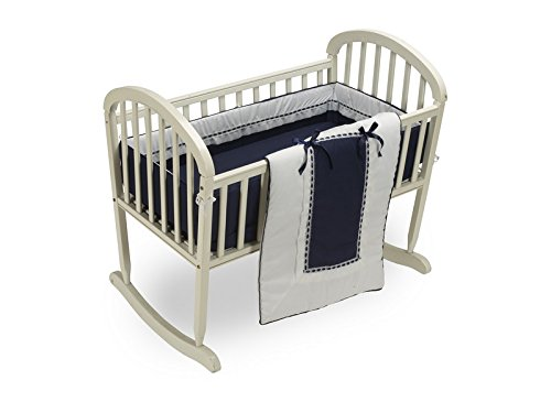 Baby Doll Royal Cradle Bedding Set, Navy