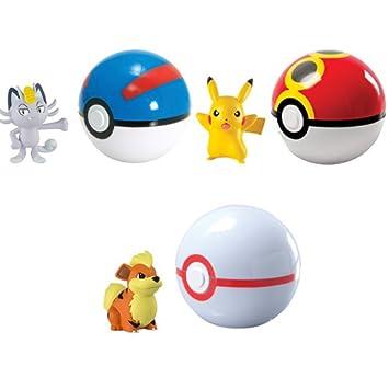 Tomy - A1401782 - Figurine Animation - Coffret Pokémon Clip - Ceinture Et Pokeball-Modèle aléatoire