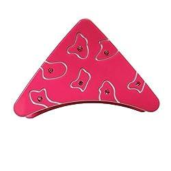 Designer Kart Women's Hair Clip (DK1540HC11P_Pink_Free Size)