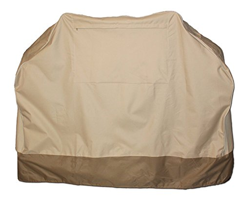 BBQ Grill Cover - Medium Cabana Style -Waterproof -Two Tone -Webber, Char-broil, Brinkman - 58x24x48 (Bbq Covers Medium compare prices)