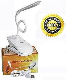 HIG Table Lamps & Reading Lights Touch-sensitive Controls Any Brightness Adjustment, Usb Charging - Bedside Nightlights Clip LED Desk Lamp
