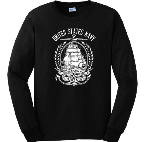 Us Navy Long Sleeve. United States Navy Long Sleeve. : Men'S X-Large Black