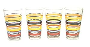 Fiesta Multi-Stripe 42 16-Ounce Tall Tea Glasses, Set of 4