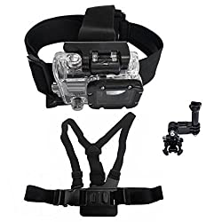 Hooshion Chest Harness Belt Mount 3-way Adjustment Base Body Chest Strap Shoulder for GoPro HD Hero 1 2 3 3+ Camera