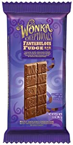 Wonka Exceptionals Chocolate Bars, Fantabulous Fudge Bar, 3.5-Ounce (Pack of 12)