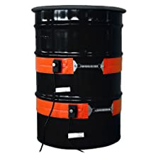 BriskHeat DHCS11 DHCS Standard Heavy Duty Metal Drum Heater, Fits 15-Gallon Drums, 2-Layer Reinforced Silicone Rubber, W x L: 4 x 44-Inch, Diameter: 14-Inch, 120VAC
