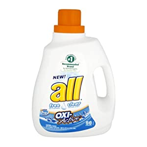 All Free Clear Oxi-Active Liquid Laundry Detergent 56 Loads