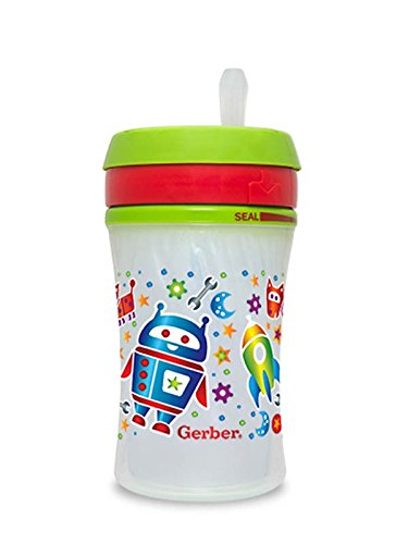 Gerber Graduates Advance Developmental Insulated EasyStraw Cup in Assorted Patterns, 9-Ounce (Gerber Straw Cup compare prices)