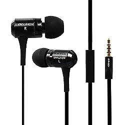 Awei Es100i Super Bass Headphone Earphone Headset in Ear Earbuds with Mic for Samsung Samrtphone Iphone