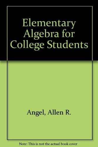 Elementary Algebra: A Practical Approach