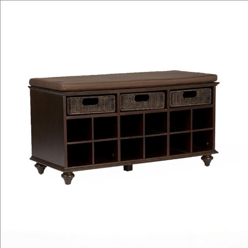 Southern Enterprises Hudson Shoe Bench in Espresso