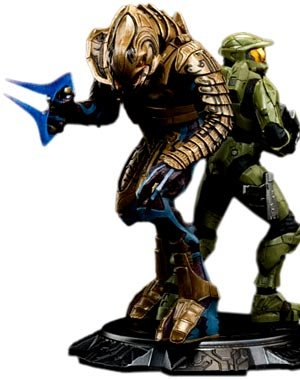 Picture of Dark Horse Weta Collectibles: Halo 3 Master Chief & Arbiter Statue Figure (B001GICR2E) (Halo Action Figures)