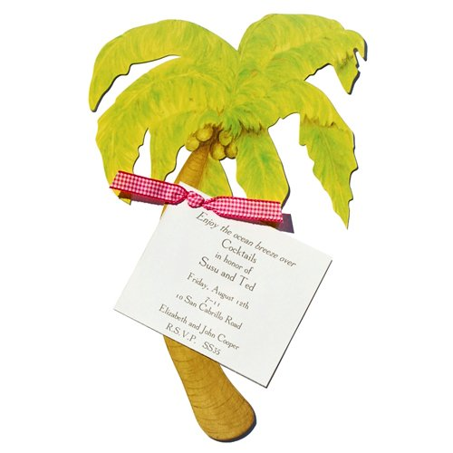 Palm Tree Die-Cut Card, Pack Of 10 front-941467