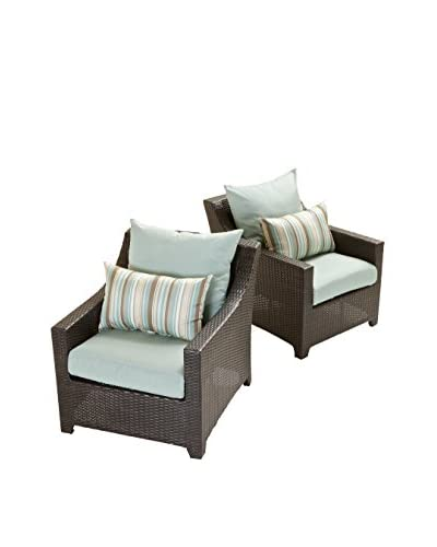 RST Brands Deco Set of 2 Club Chairs, Blue