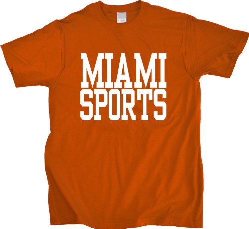 MIAMI SPORTS Unisex T-shirt - Heat, Dolphins, Marlins, Panthers Fan Tee XXXX-Large at Amazon.com