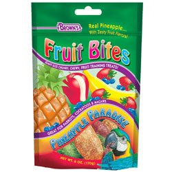 Cheap FM Brown's Fruit Bites Pineapple Paradise Bird Treats for Large Birds (9561:4037203)