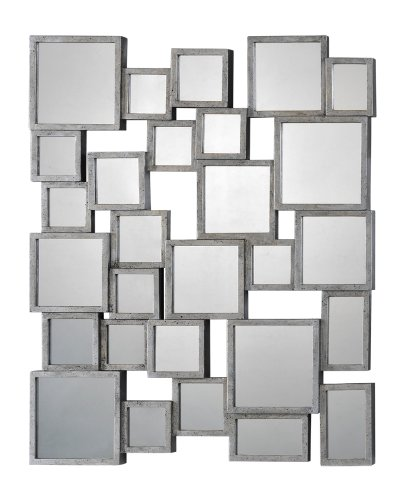Ren-Wil Ren-Wil Stafford Small Wall Mirror - 34W X 41H In., Silver, Metal front-850919