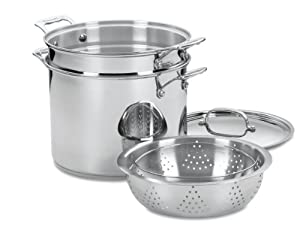 Cuisinart 77-412 Chef's Classic Stainless 4-Piece 12-Quart Pasta/Steamer